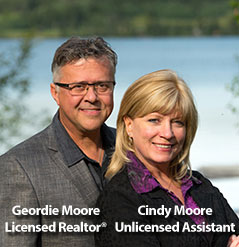 Geordie Moore - Licensed Realtor, Cindy Moore - Unlicensed Assistant